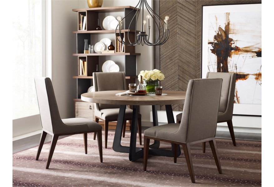 Heavy Duty Folding Picnic Table, American Drew Modern Synergy Contemporary Casual Dining Room Group With Round Table Pedigo Furniture Casual Dining Room Groups