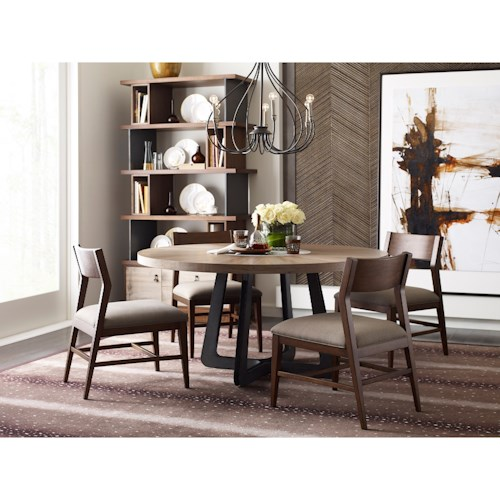 American Drew Modern Synergy Contemporary Casual Dining Room Group with Round Table