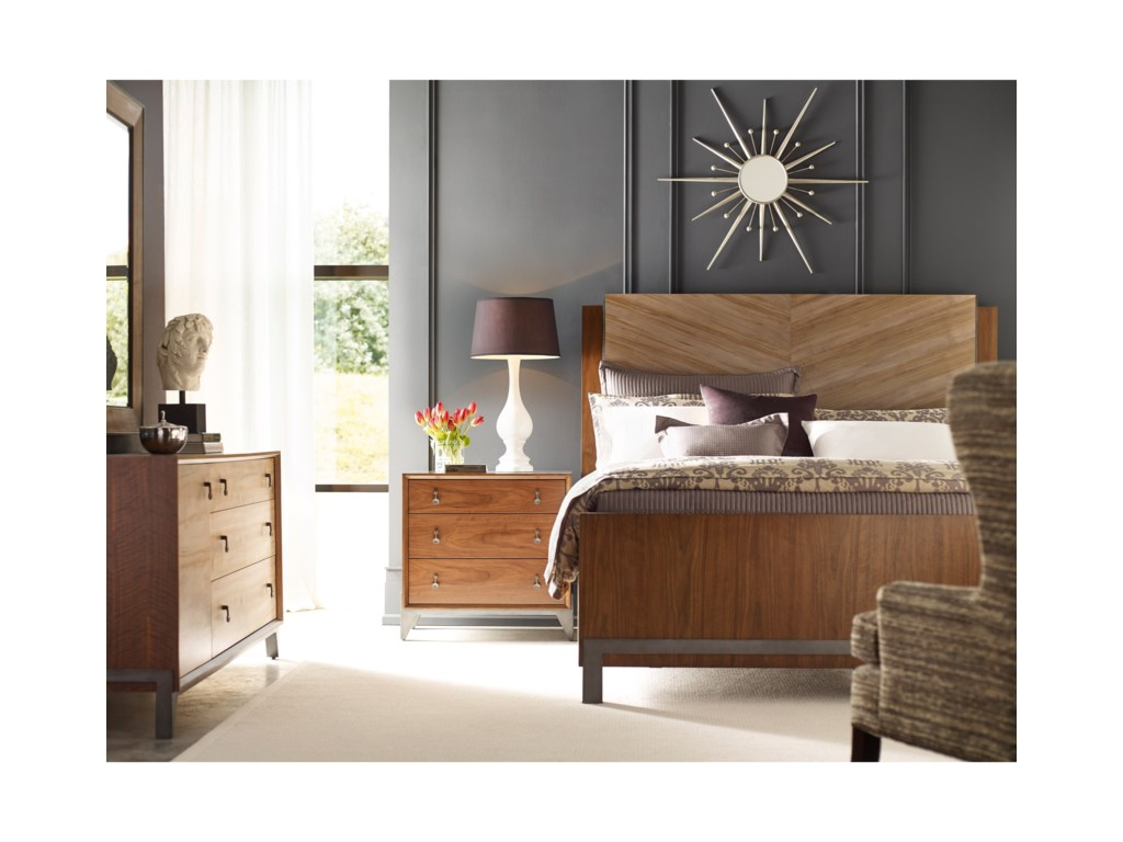 American Drew Modern SynergyQueen Bedroom Group