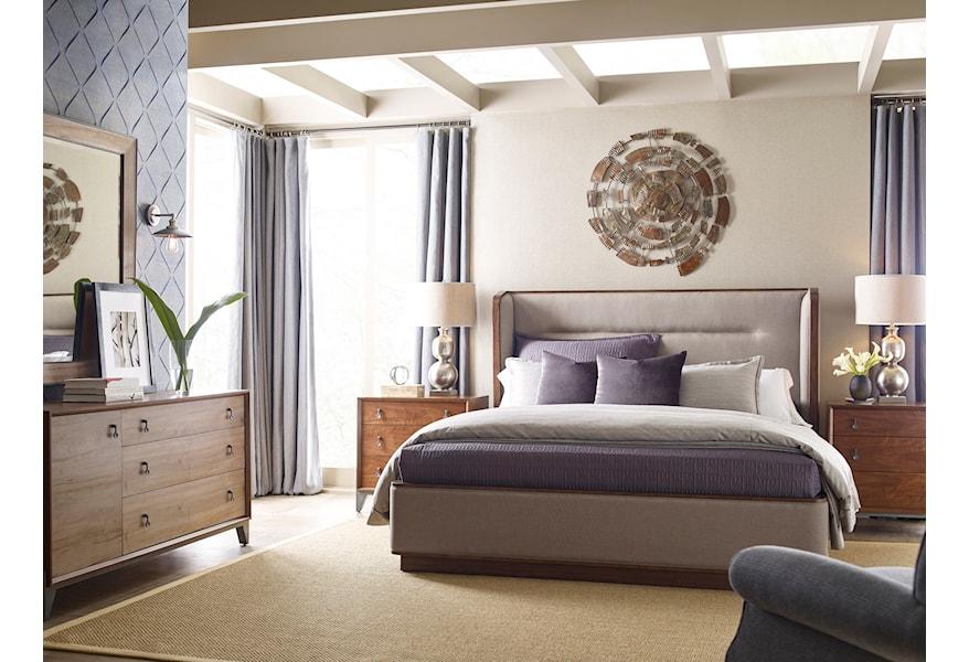 Modern Synergy Queen Upholstered Bedroom Group