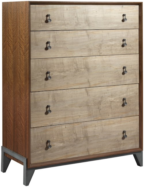 American Drew Modern Synergy Contemporary Motif Drawer Chest with Cedar-Lined Bottom Drawer