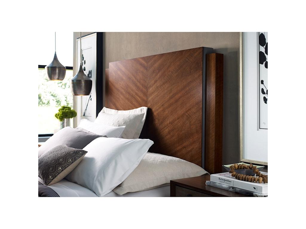 American Drew Modern SynergyChevron Walnut Queen Bed