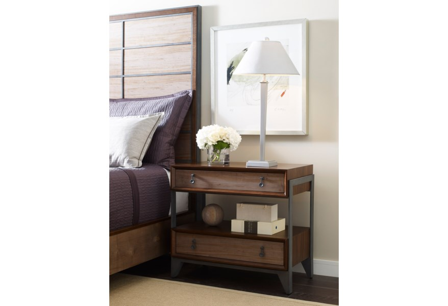 American Drew Modern Synergy Suspend Night Stand