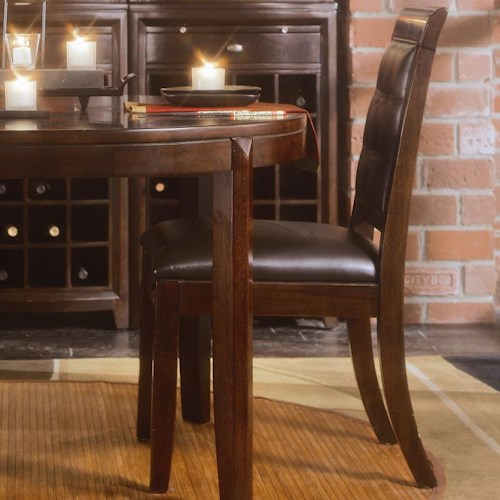 American Drew Tribecca Upholstered Leather Side Chair