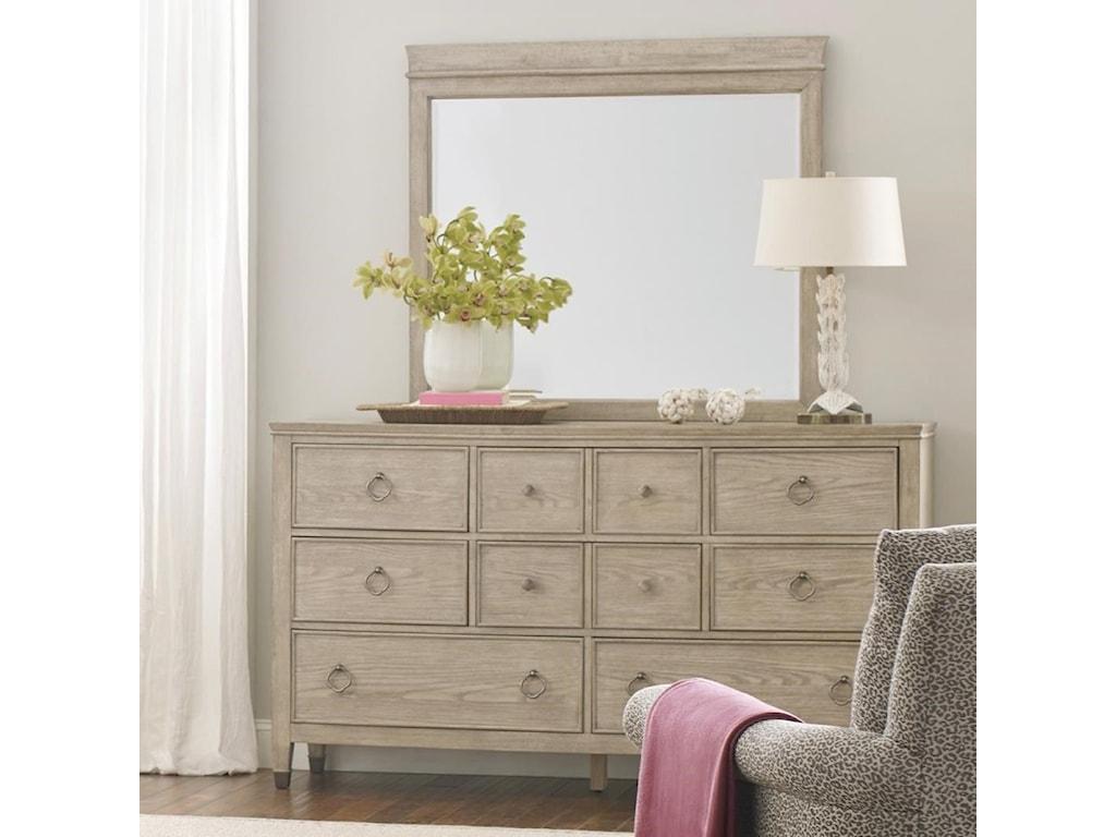 American Drew VistaFremont Dresser and Mirror Set