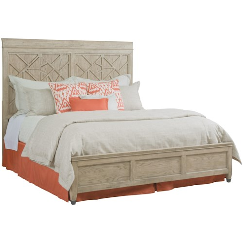 American Drew Vista Relaxed Vintage Queen Altamonte Panel Bed