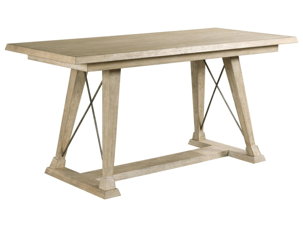 American Drew VistaClayton Counter Height Trestle Table