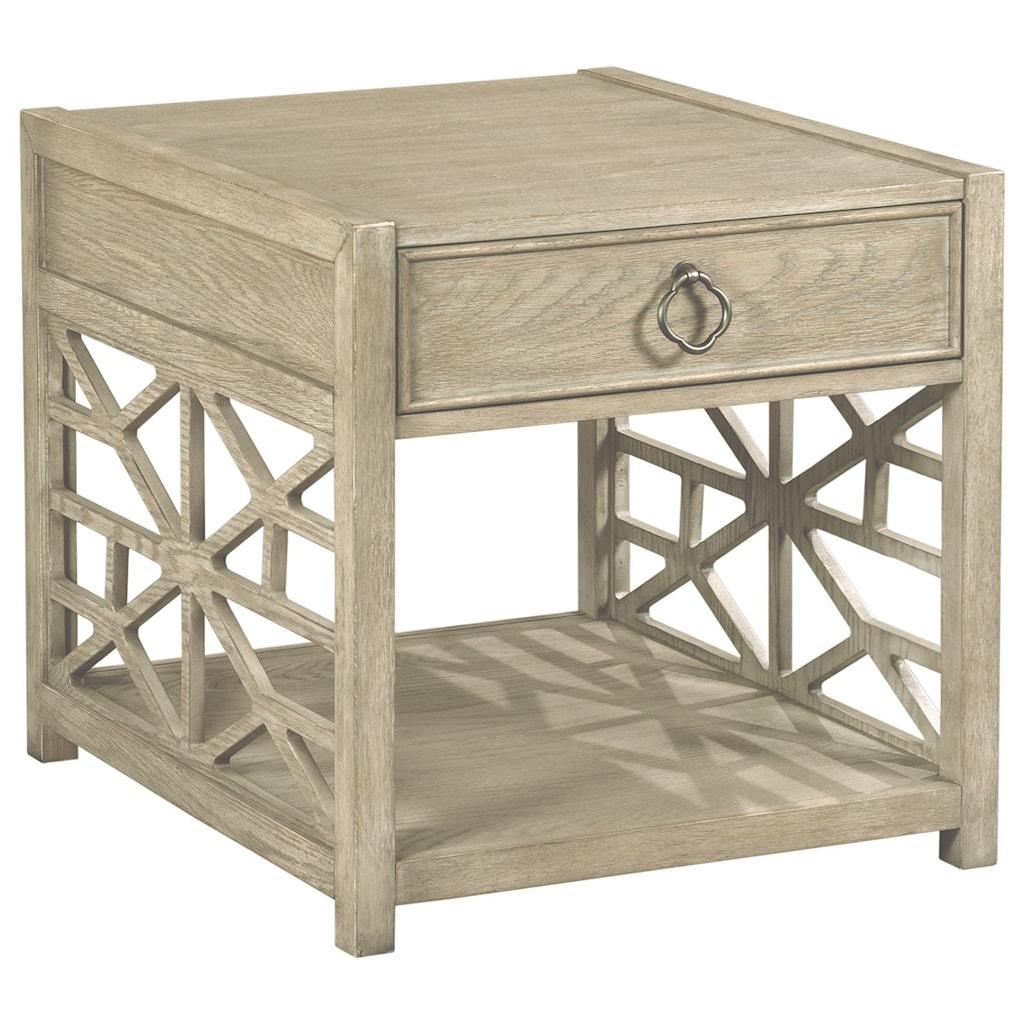 American drew vistabiscane drawer end table