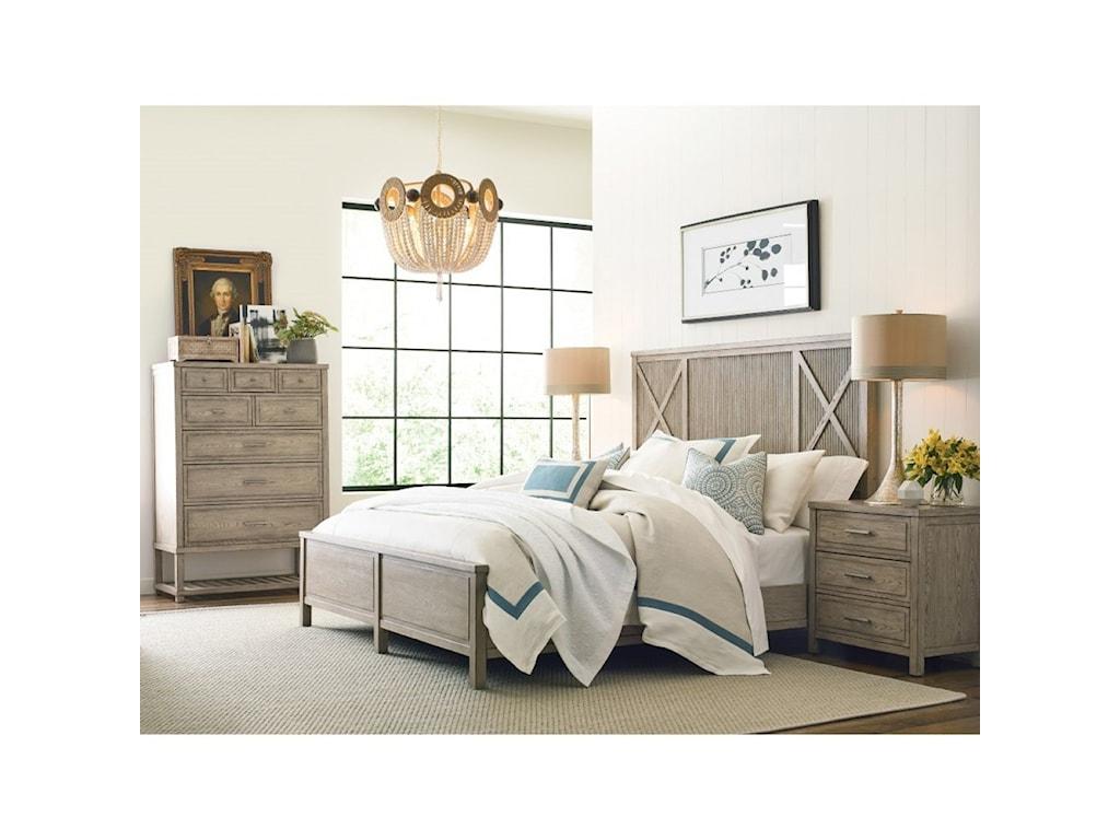 American Drew West ForkQueen Bedroom Group
