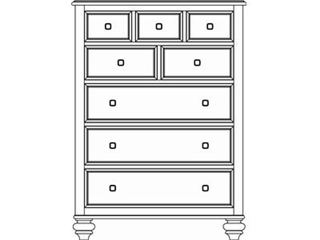 American Drew Camden - DarkDrawer Chest