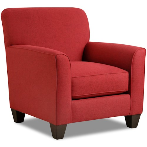 American Furniture 1010 Casual Styled Accent Chair