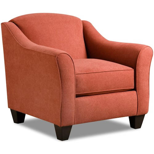 American Furniture 1020 Accent Chair with Casual Style