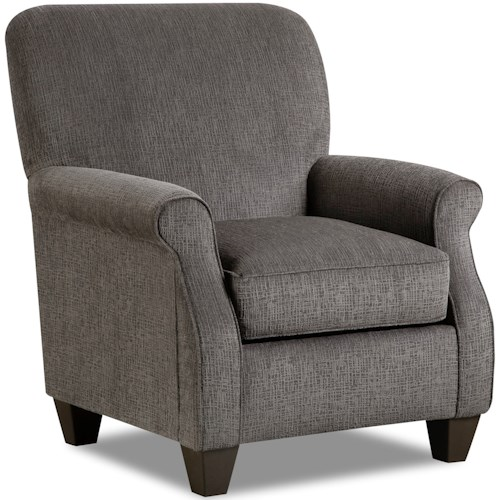 American Furniture 1030 Accent Chair with Rounded Arms