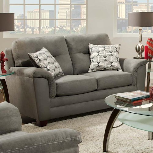 American Furniture 1070 Contemporary Loveseat with Flared Arms