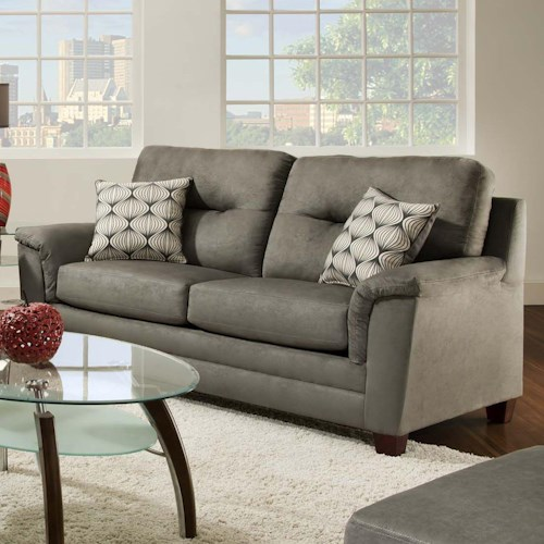American Furniture 1070 Contemporary Sofa with Two Seat Cushions