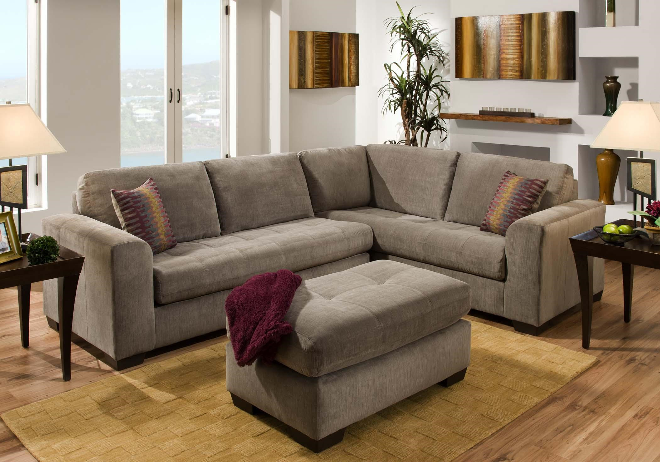 American Furniture 1230 Contemporary Sectional Sofa with Corner Construction : american furniture sectional - Sectionals, Sofas & Couches