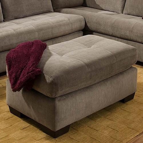 American Furniture 1230 Contemporary Ottoman in Rectangle Shape