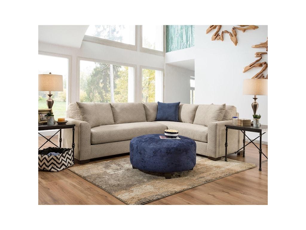 American Furniture 1280Accent Ottoman