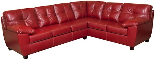 American Furniture 1470  Casual and Contemporary Corner Shaped Sectional Sofa