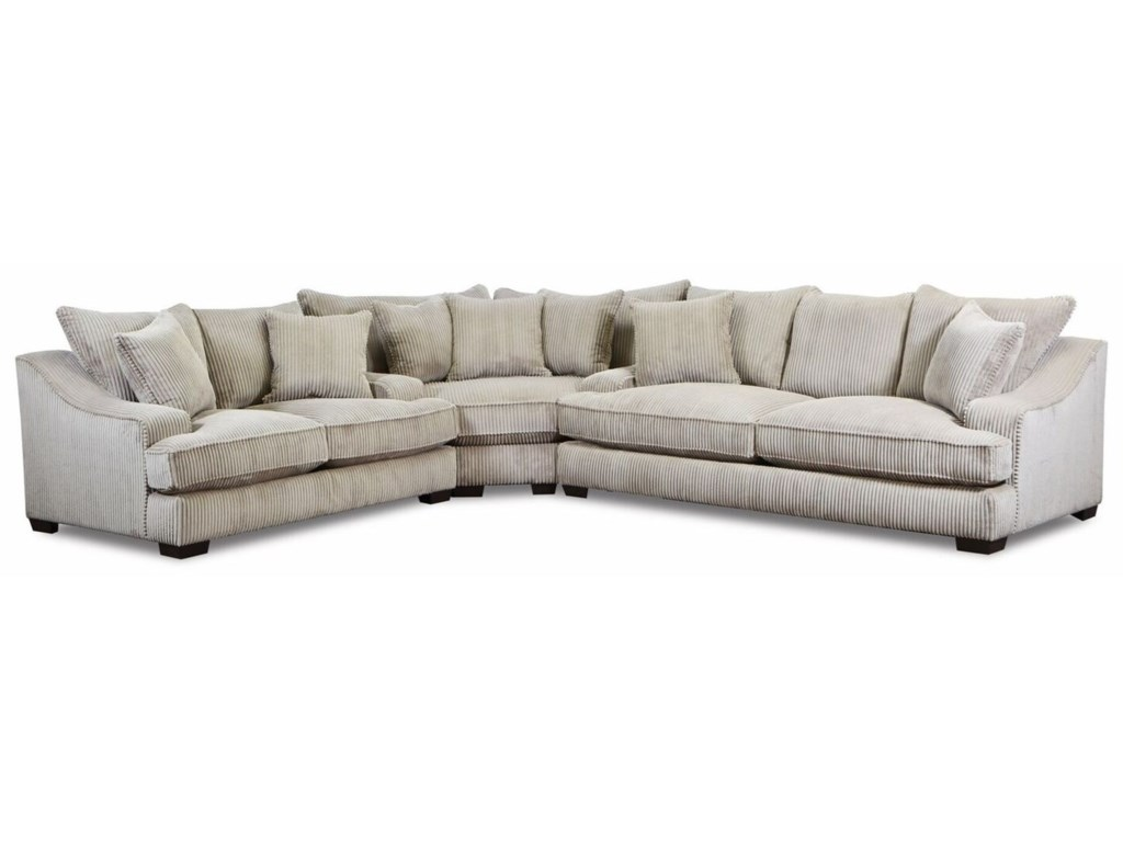 American Furniture 1500 Casual L-Shaped Sectional with Track ...