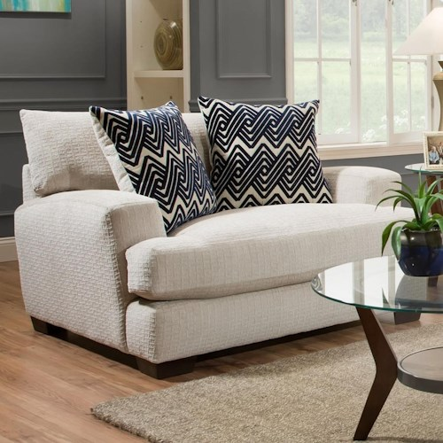 American Furniture 1600 Contemporary Chair and a Half with Gel-Infused Cushions