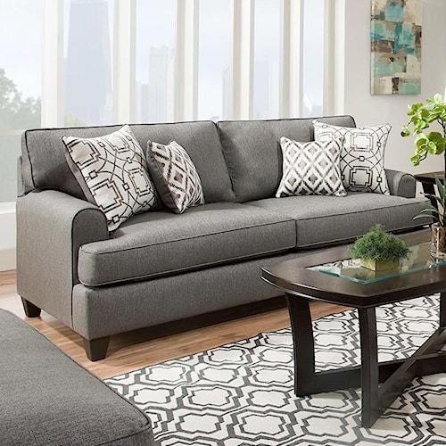American Furniture 1950 Casual Styled Sofa