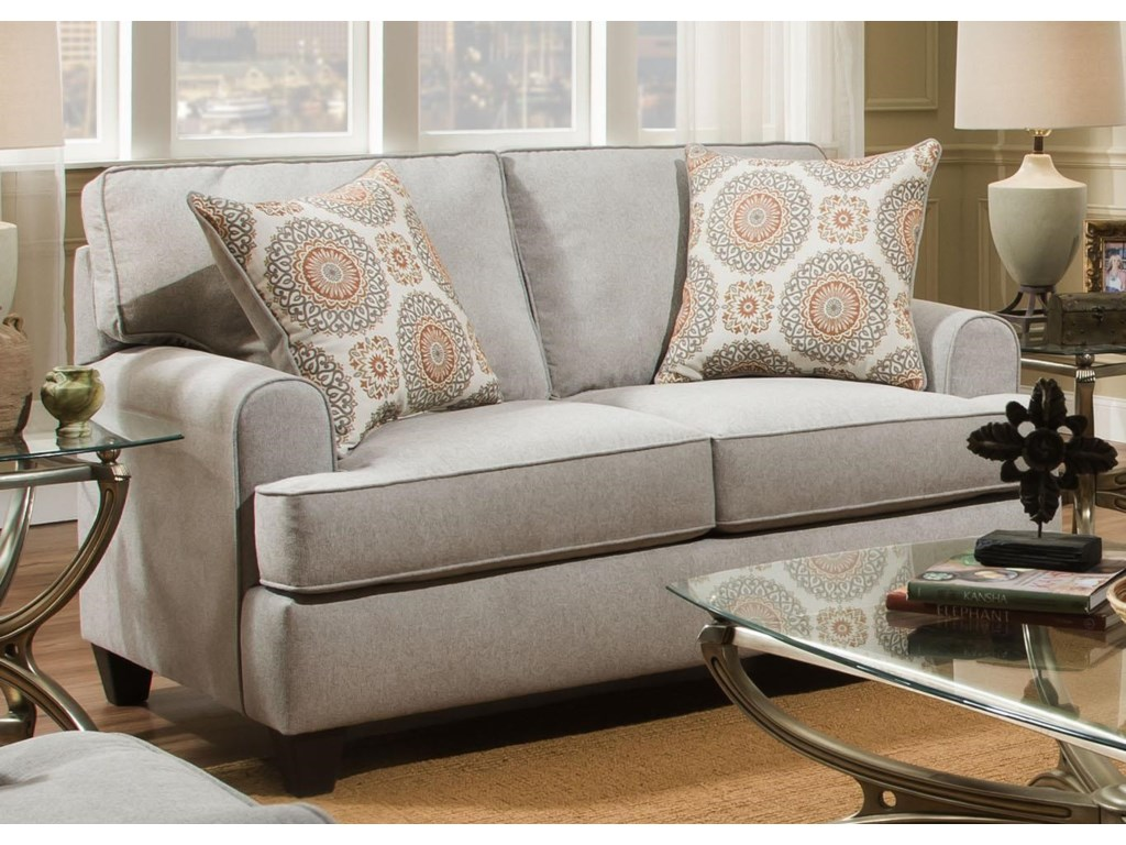 American furniture popstitch dove loveseat
