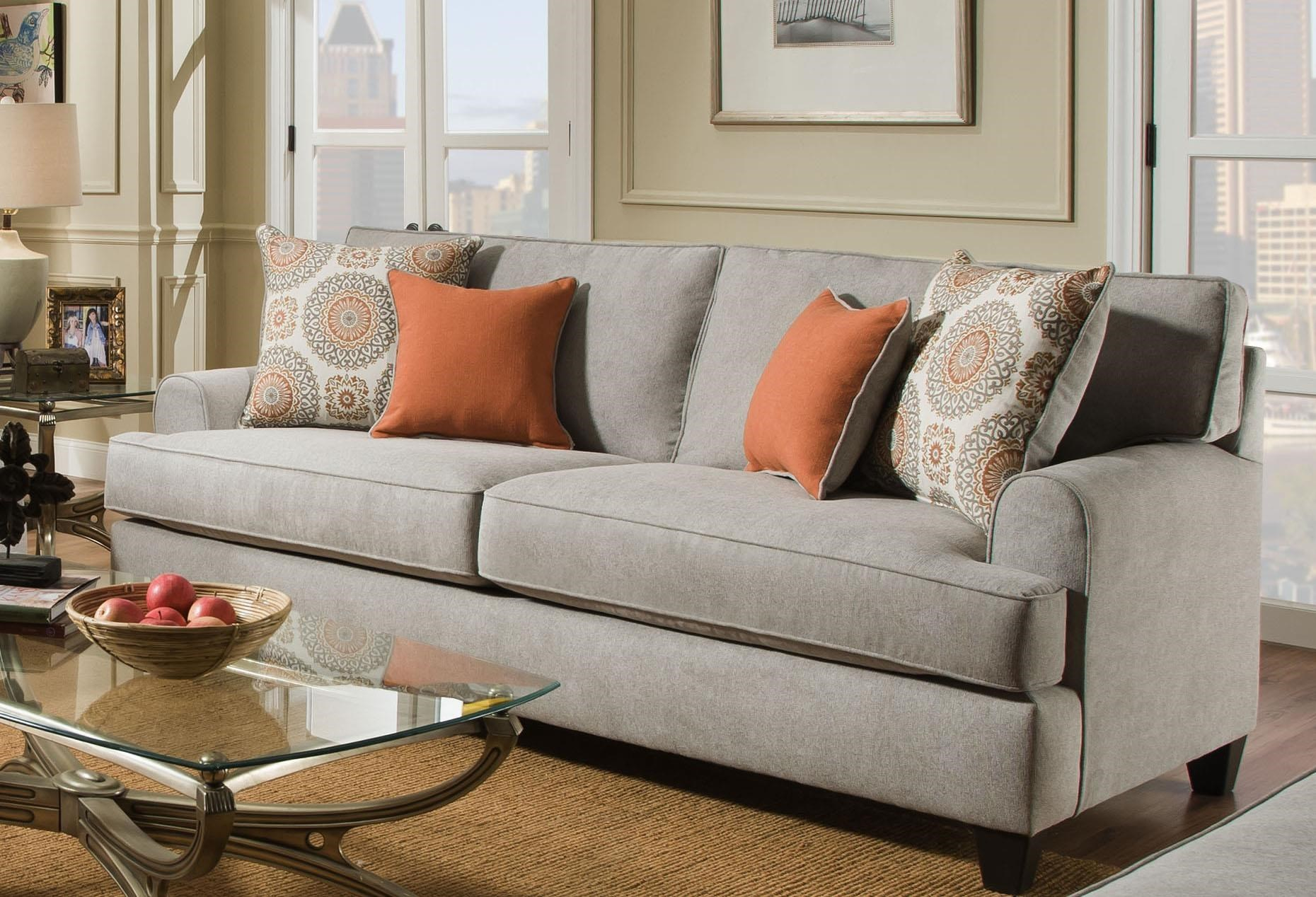 American Furniture Popstitch DoveSofa