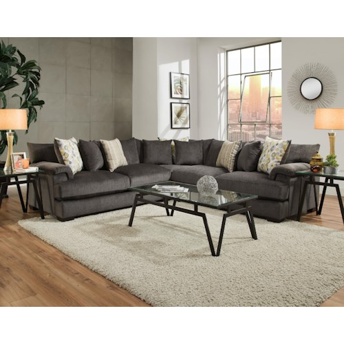 American Furniture 2100 3 Piece Sectional Furniture Fair North Carolina Sectional Sofas
