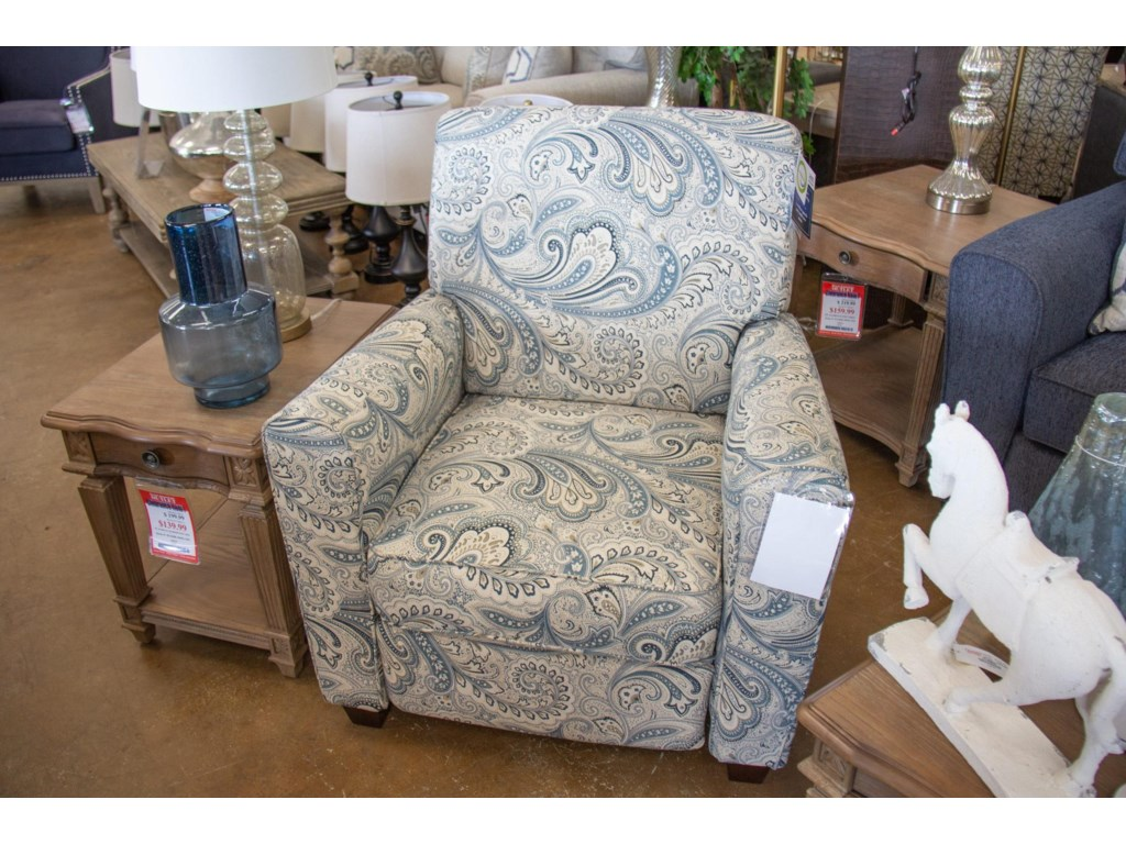 American Furniture 2460Barilla Denim Pushback Recliner