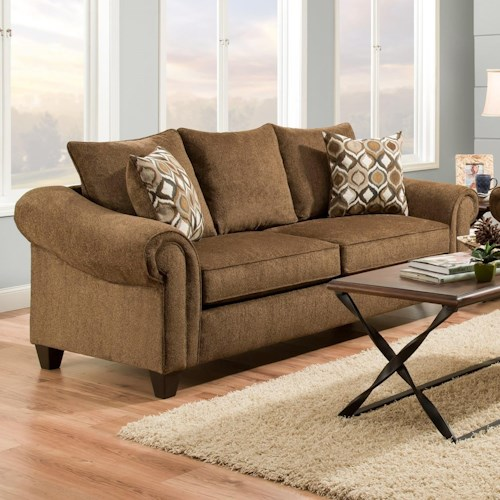 American Furniture 2700 Transitional Sofa with 2 Seat Cushions