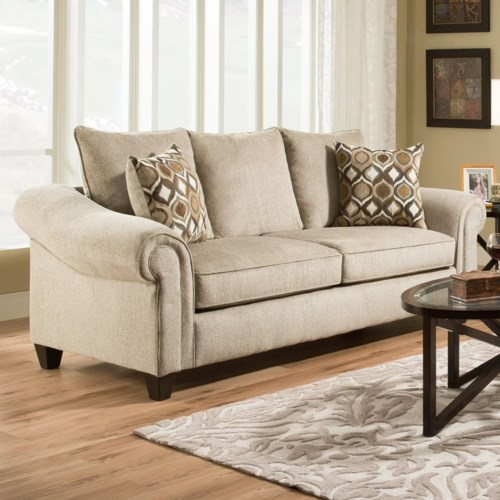 Transitional Sofa with 2 Seat Cushions 2700 by American