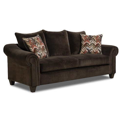 American Furniture 2800 Sofa with Casual Style