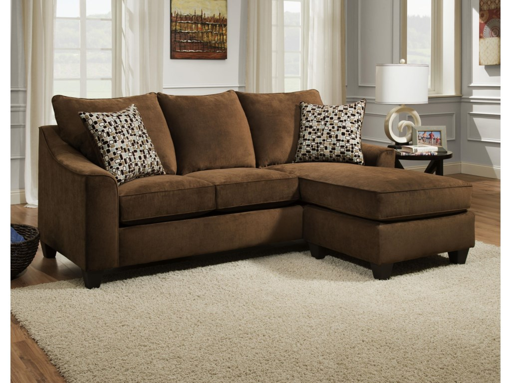 2957 3 Seat Sofa Chaise by American Furniture at Prime Brothers Furniture