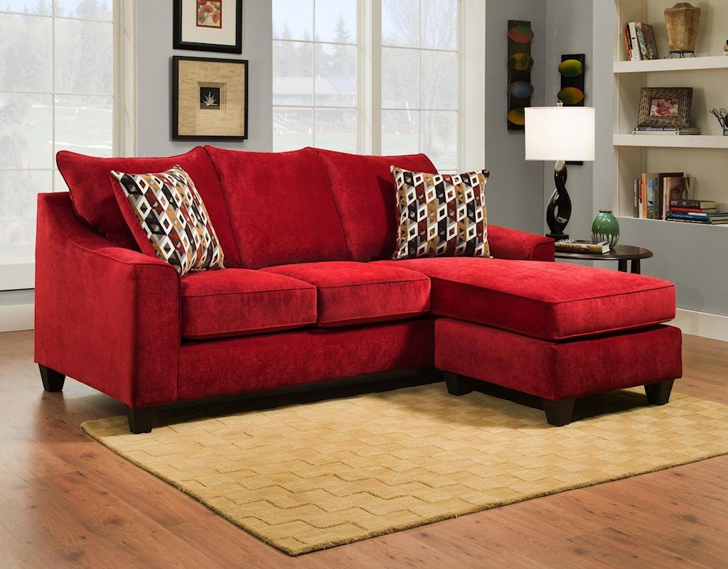 American furniture 2957 3 seat sofa chaise