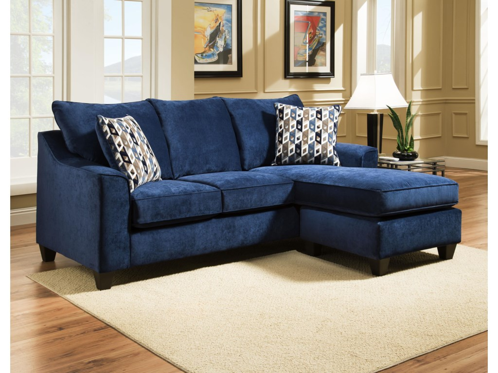 American Furniture 2957 3 Seat Sofa Chaise | Prime Brothers ...