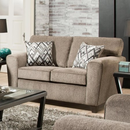 Loveseat with Casual Style
