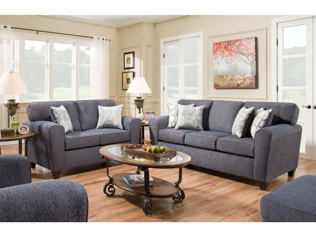 American Furniture 3100Sofa with Casual Style