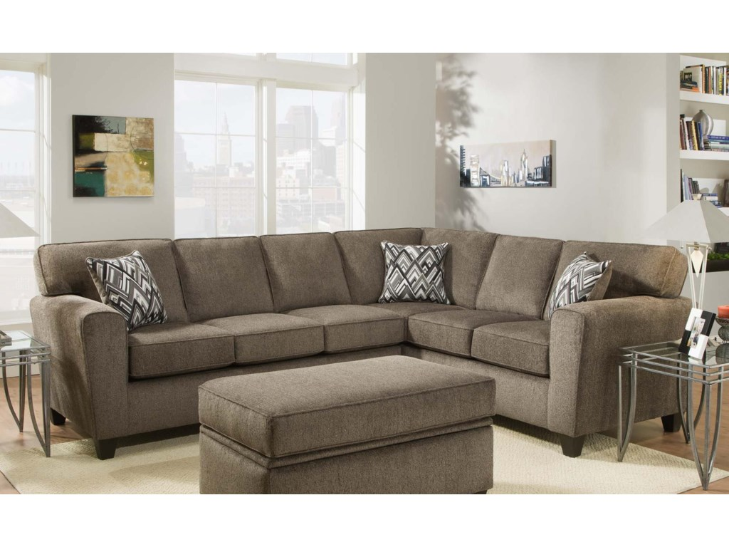 American Furniture 3100 Sectional Sofa (Seats 5) | Miskelly ...