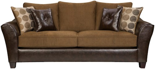 American Furniture 3200 Group Transitional Sofa with Contemporary Lines and Traditional Design