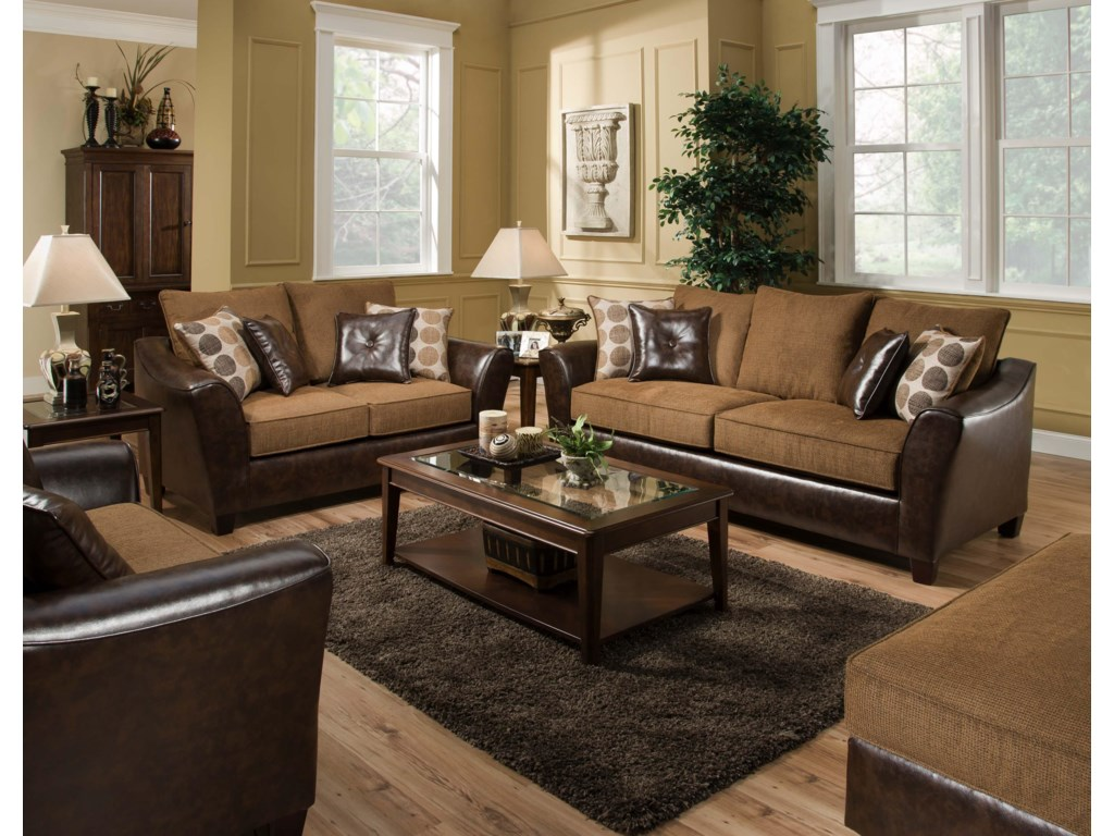 Shown with Coordinating Collection Loveseat. Chair and Ottoman Shown Lower Corners.