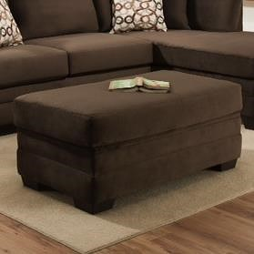 American Furniture 3500  Contemporary Storage Ottoman with Rectangle Shape