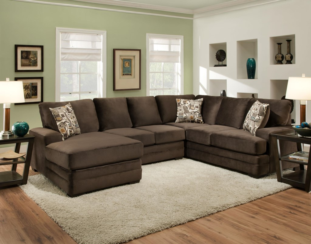 American Furniture 3500 Sectional Sofa with Chaise
