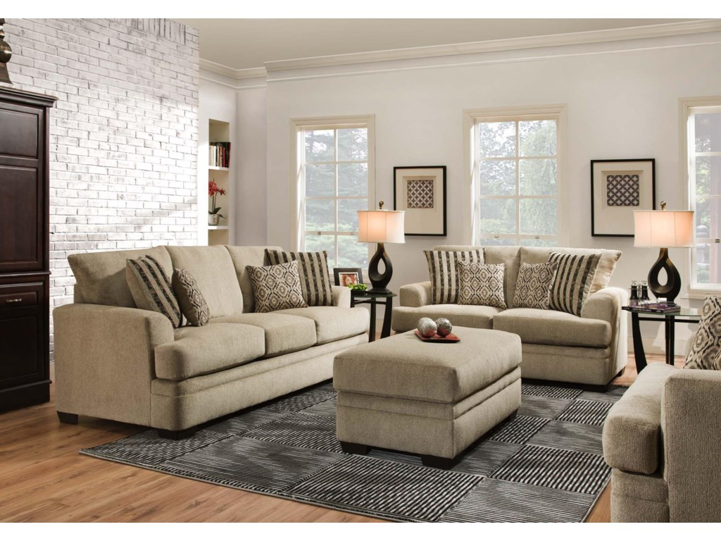 american furniture 3650 stationary living room group rooms for