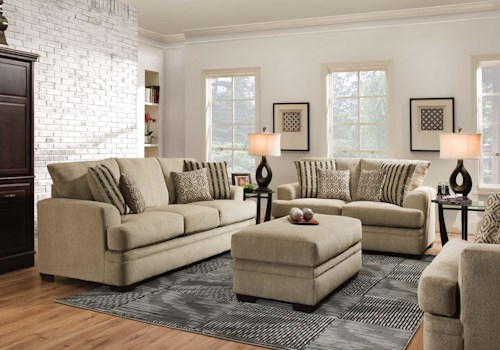 American Furniture 3650 Stationary Living Room Group | Rooms for ...