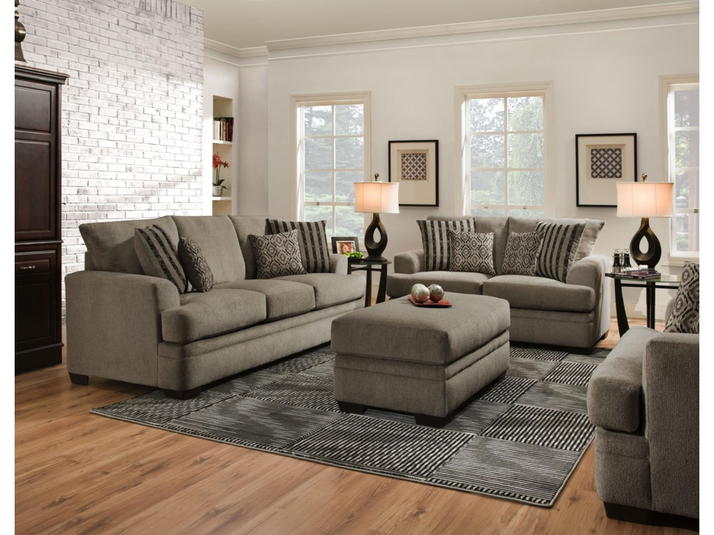 American Furniture 3650Stationary Living Room Group