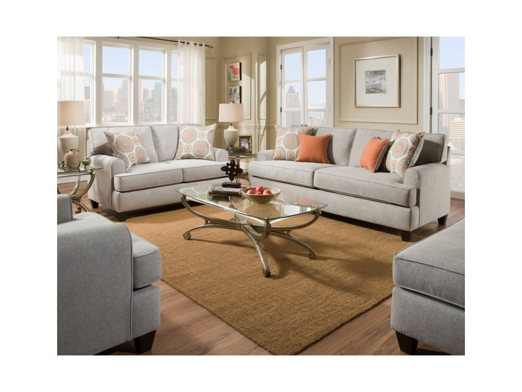 american furniture 3650 stationary living room group beck s