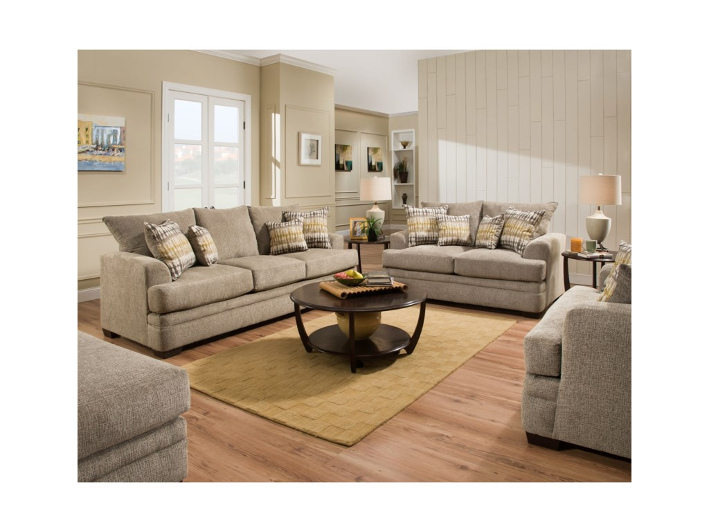 American Furniture 3650 Stationary Living Room Group Vandrie Home Furnishings Groups