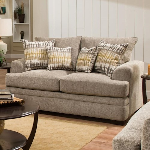 American Furniture 3650 Casual Loveseat with 2 Seats