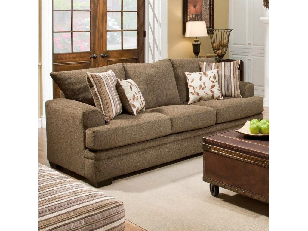 American furniture 3650 casual sofa with 3 seats becks sofa shown may not represent exact features indicated parisarafo Gallery